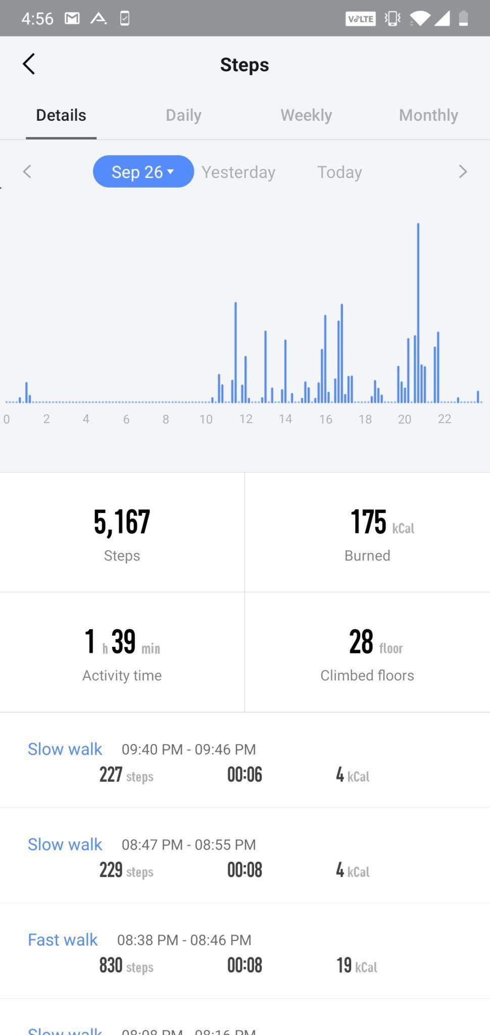 AmazFit Pace app UI (1)