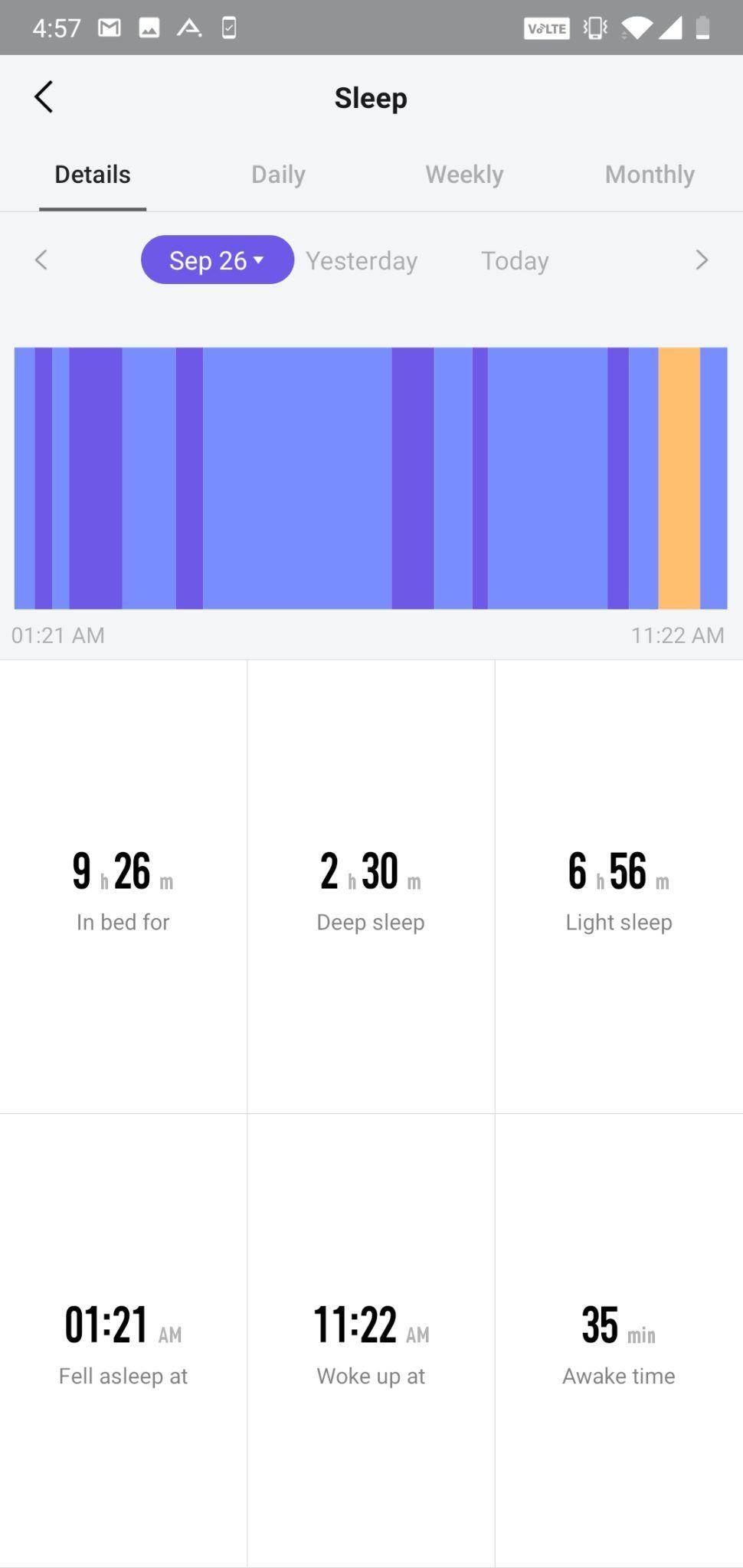 AmazFit Pace app UI (2)