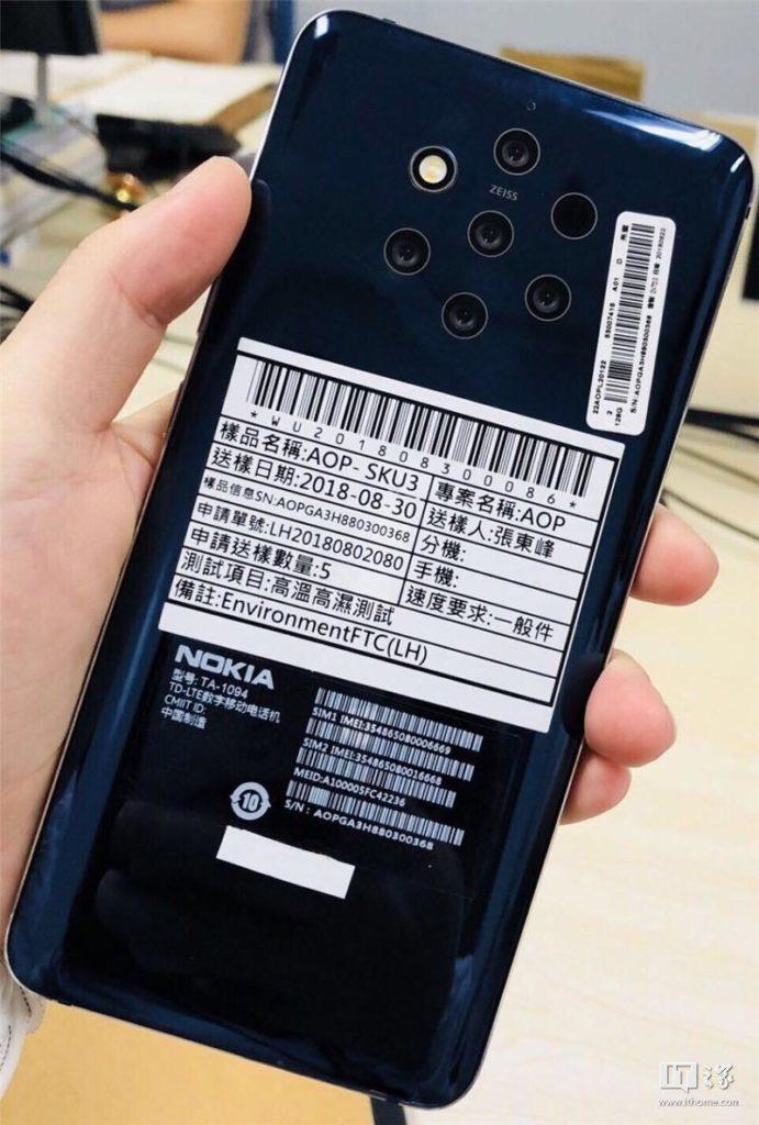 Nokia 9 five camera leak