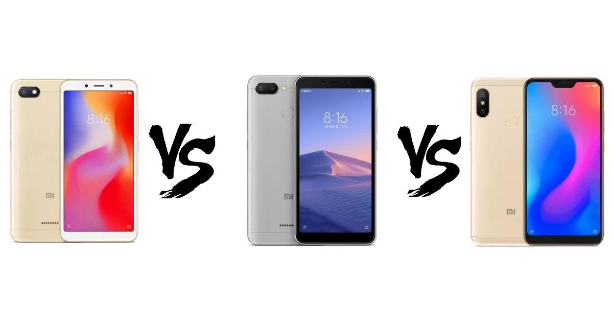 Xiaomi Redmi 6A vs Redmi 6 vs Redmi 6 Pro: what's different
