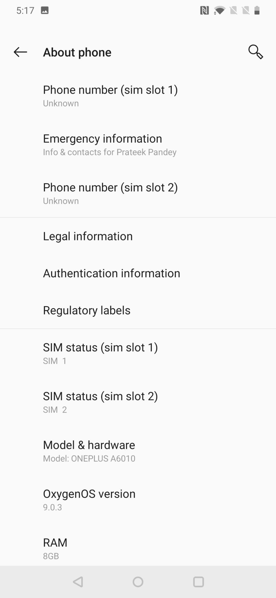 OnePlus 6T UI 3