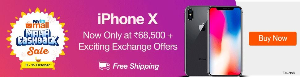 Paytm Mall iPhone X deal