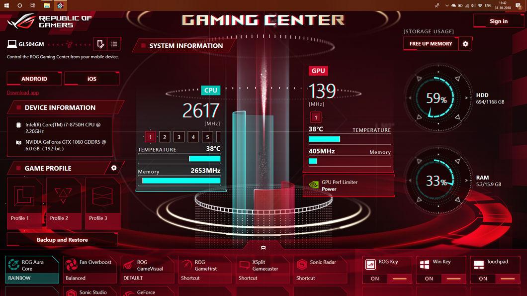 ASUS ROG Gaming Center