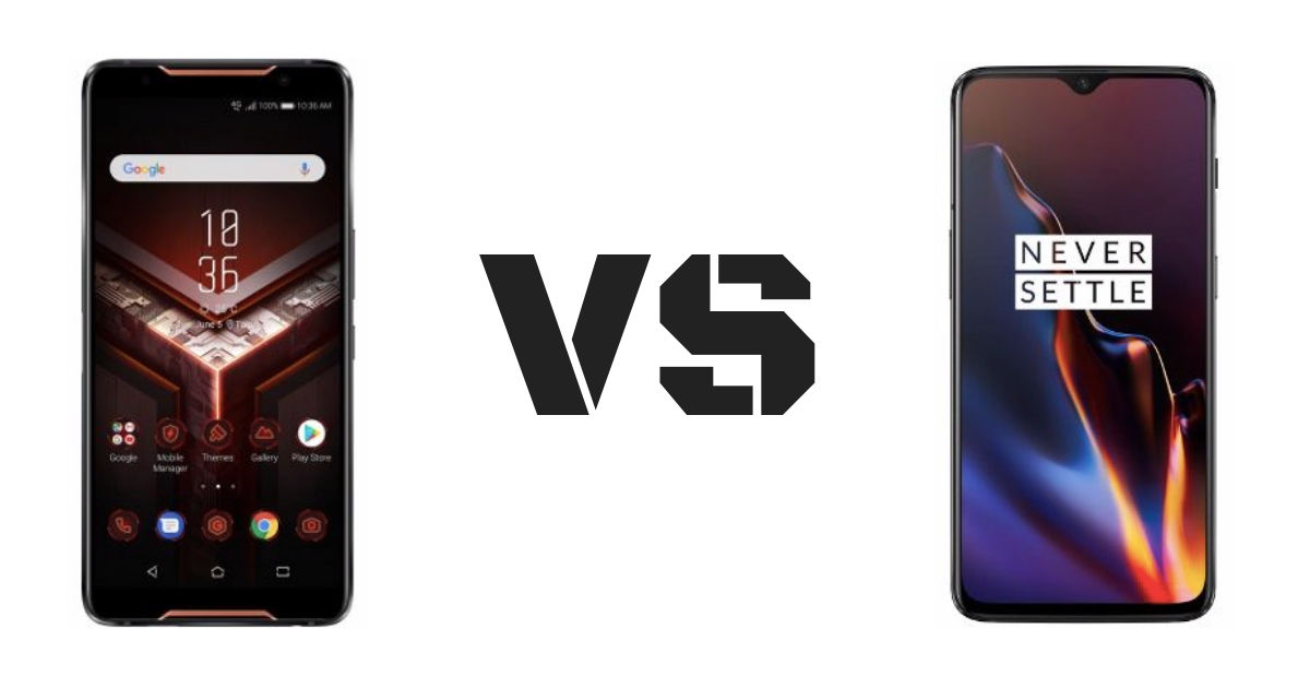 ASUS ROG Phone vs OnePlus 6T: comparing flagships that are