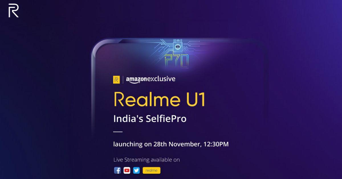 Realme U1 India Launch Invite