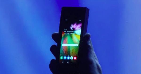Samsung foldable phone prototype