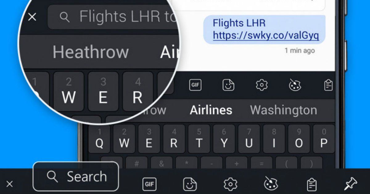 4382e2107a8 SwiftKey keyboard app for Android adds Bing search integration ...