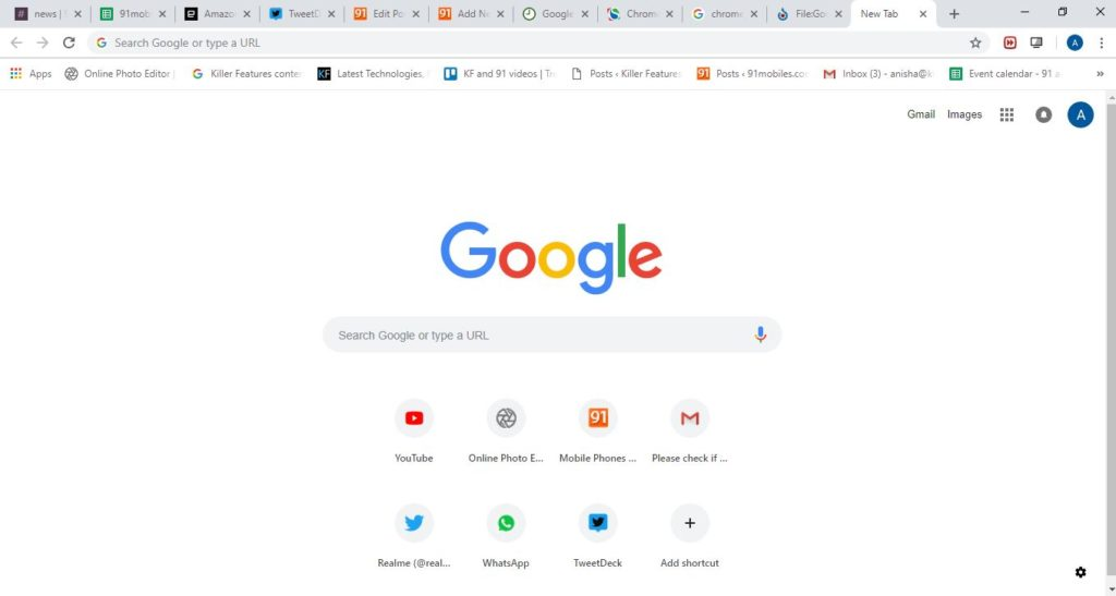 how to add tabs to chrome homepage