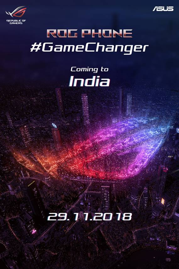 f0b3add23031 ASUS ROG Phone launching in India on November 29th for gaming ...