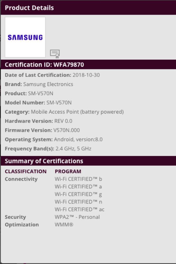 samsung v570n wifi alliance