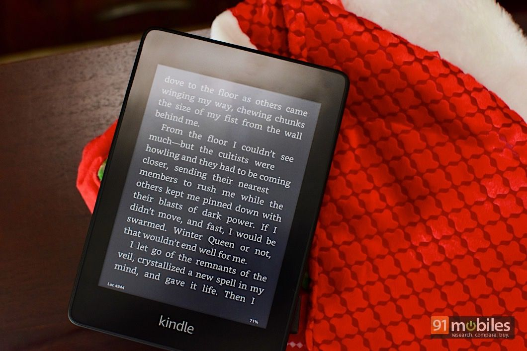 Amazon Kindle with 6-inch display and adjustable front light