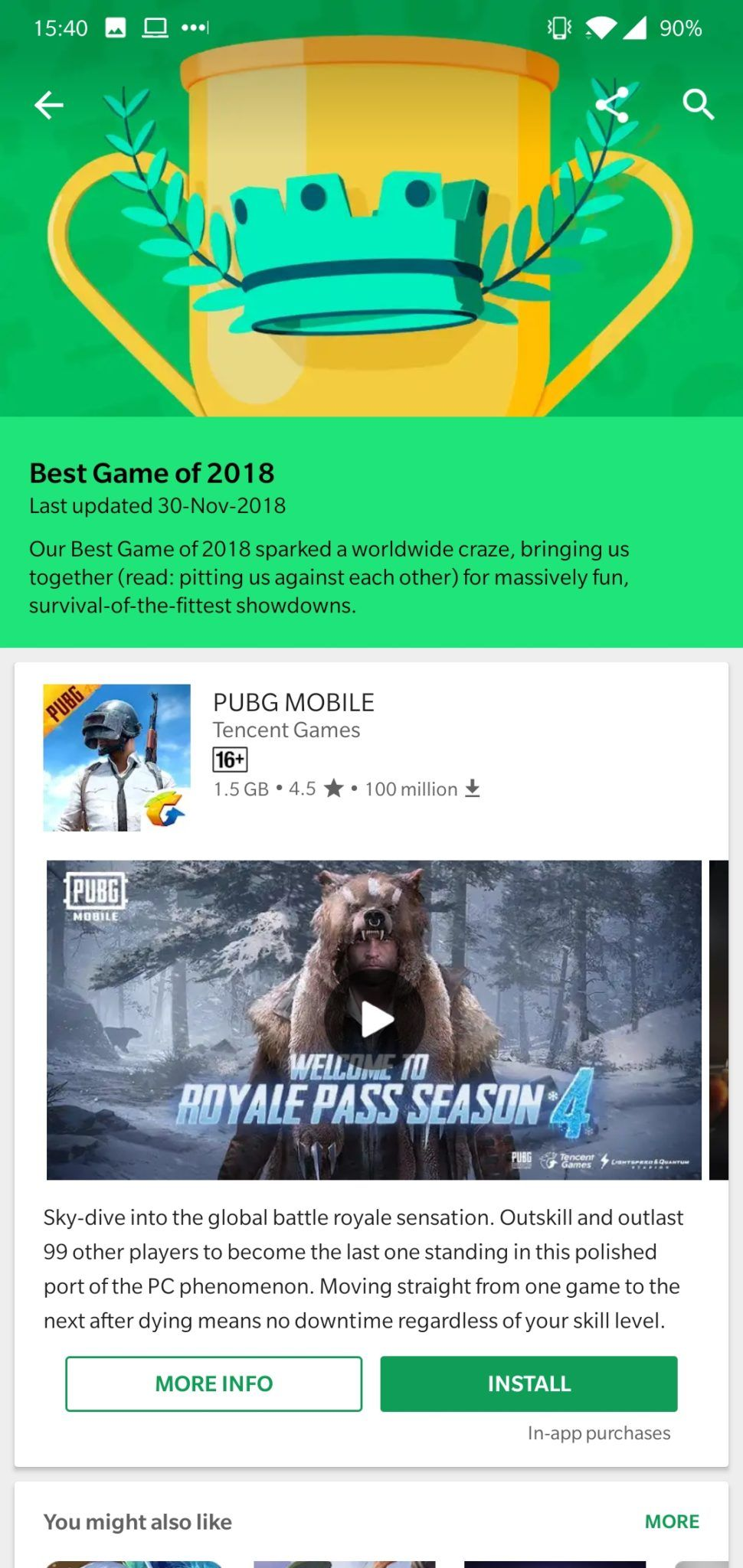 Google Game of 2018