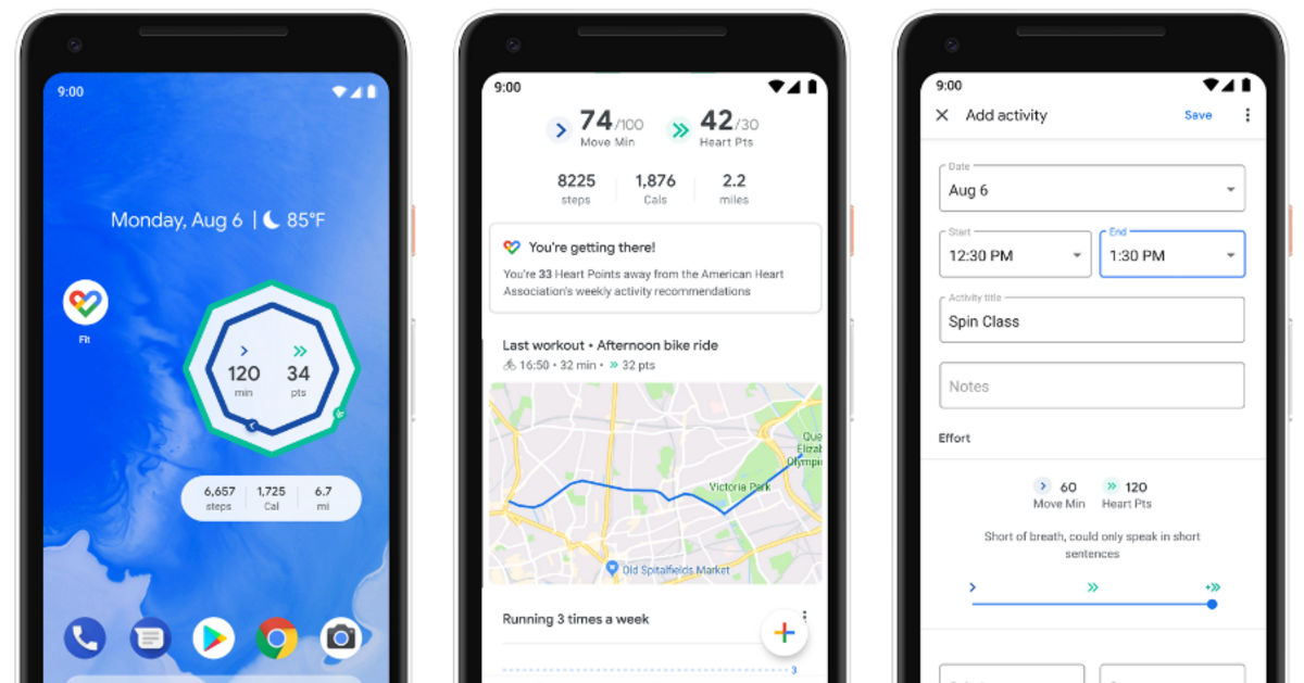 Google Fit update brings new homescreen widgets