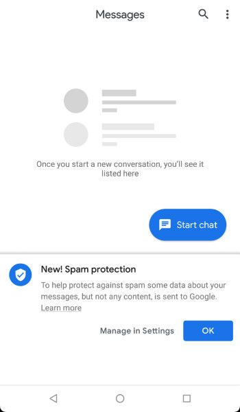 Google spam protection - in text