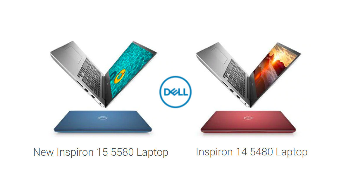 Dell Inspiron 5480, 5580 laptops with up to 8th gen Intel