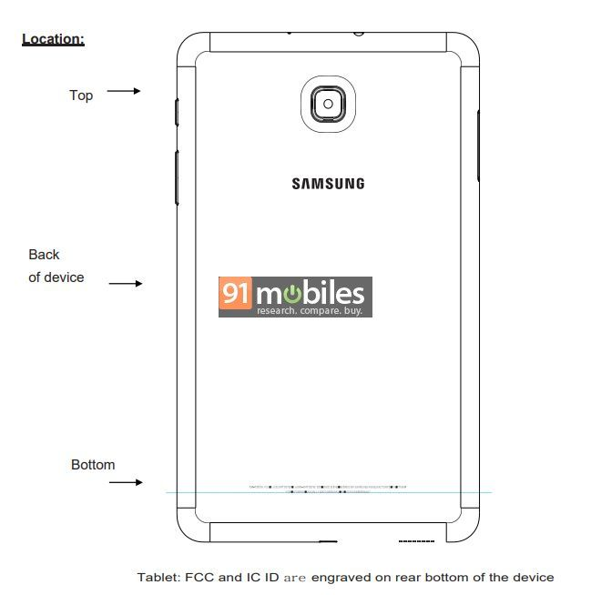 Samsung Galaxy A tablet FCC 01