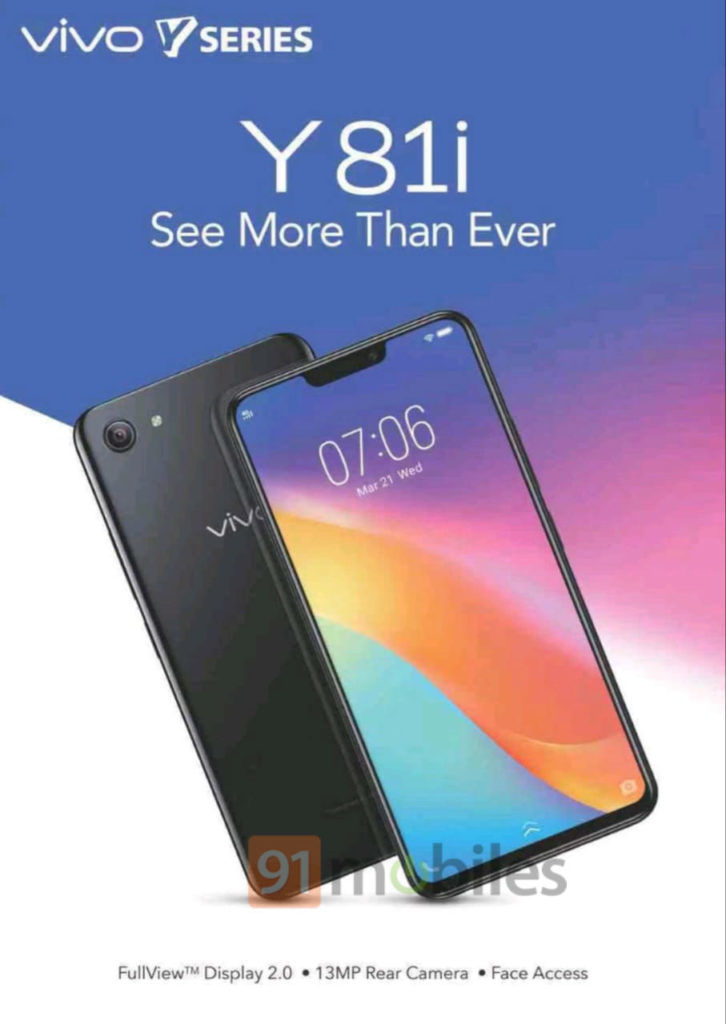 Vivo Y81i india launch