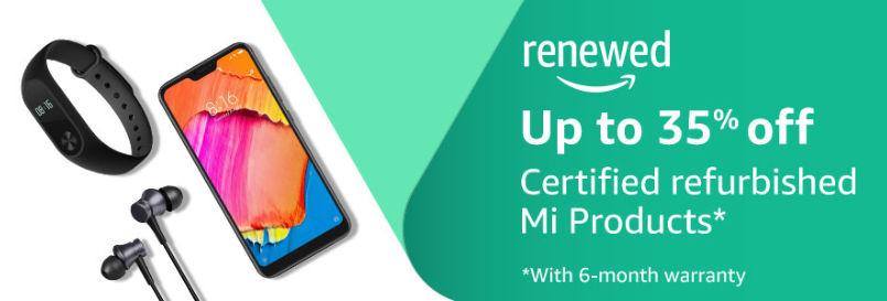 amazon certified refurbished mi products