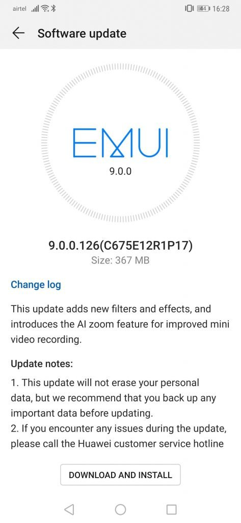 Huawei Mate 20 Pro reportedly receiving update that adds AI zoom and