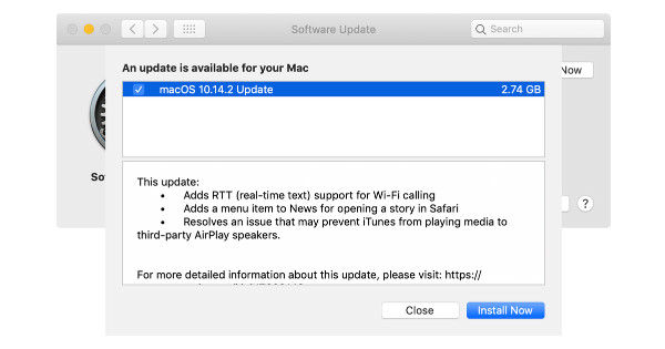 macOS 12.1.1 - in text