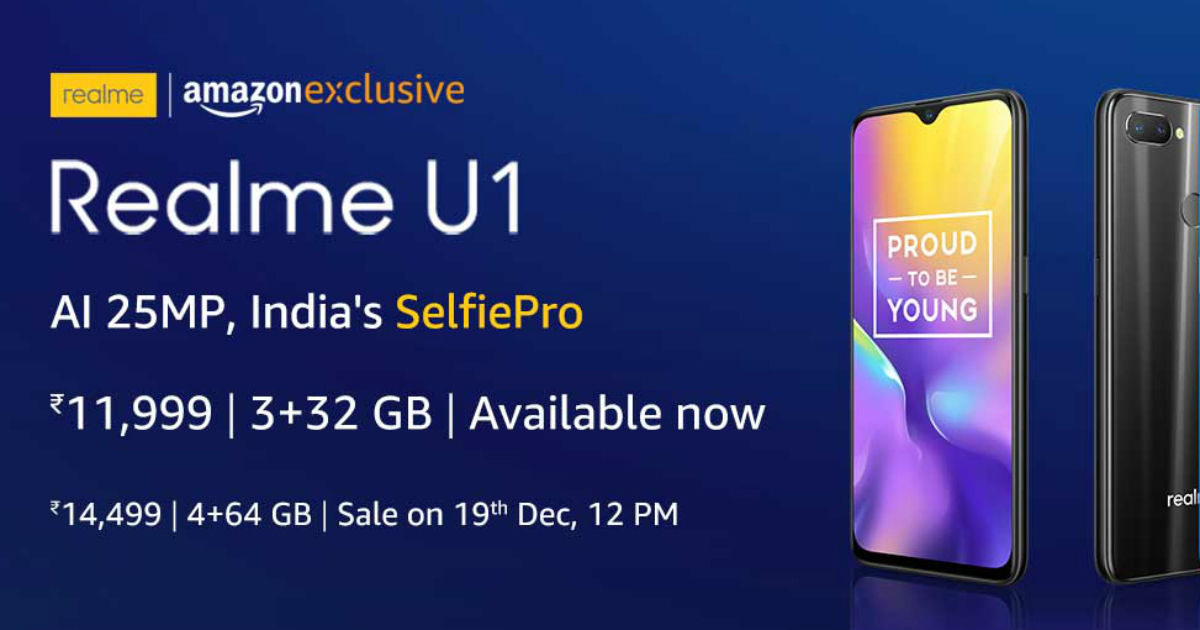 realme u1 most affordable phone of this month april after price cut