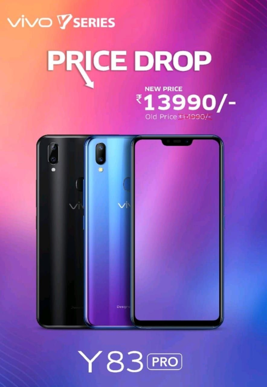 Vivo Y83 Pro price in India slashed again, now costs Rs