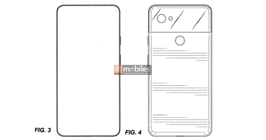 Google full screen phone patent FB