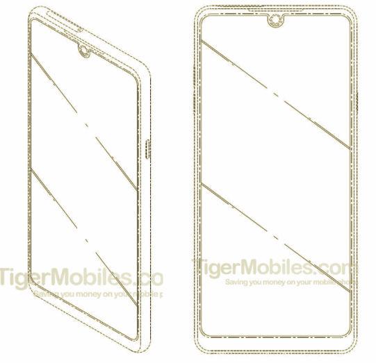 LG waterdrop style notch phone