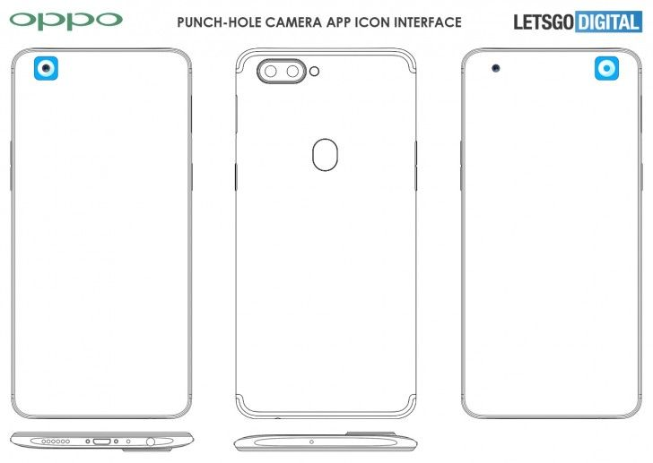 OPPO punch-hole display_patent