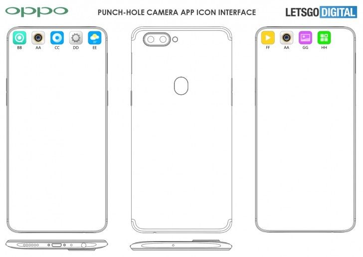 OPPO punch-hole display_patent1