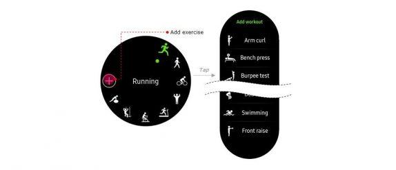 Samsung Gear S3 workout