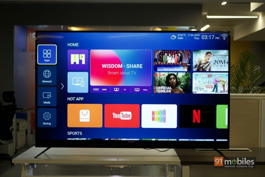 Shinco 65-inch 4K smart TV UFI 10