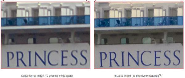 Sony IMX586 optical zoom emulation quality