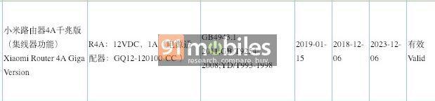 Xiaomi Router 4A Giga 3C