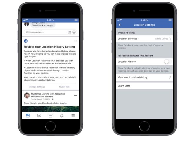 Facebook gives choices to block background location tracking in