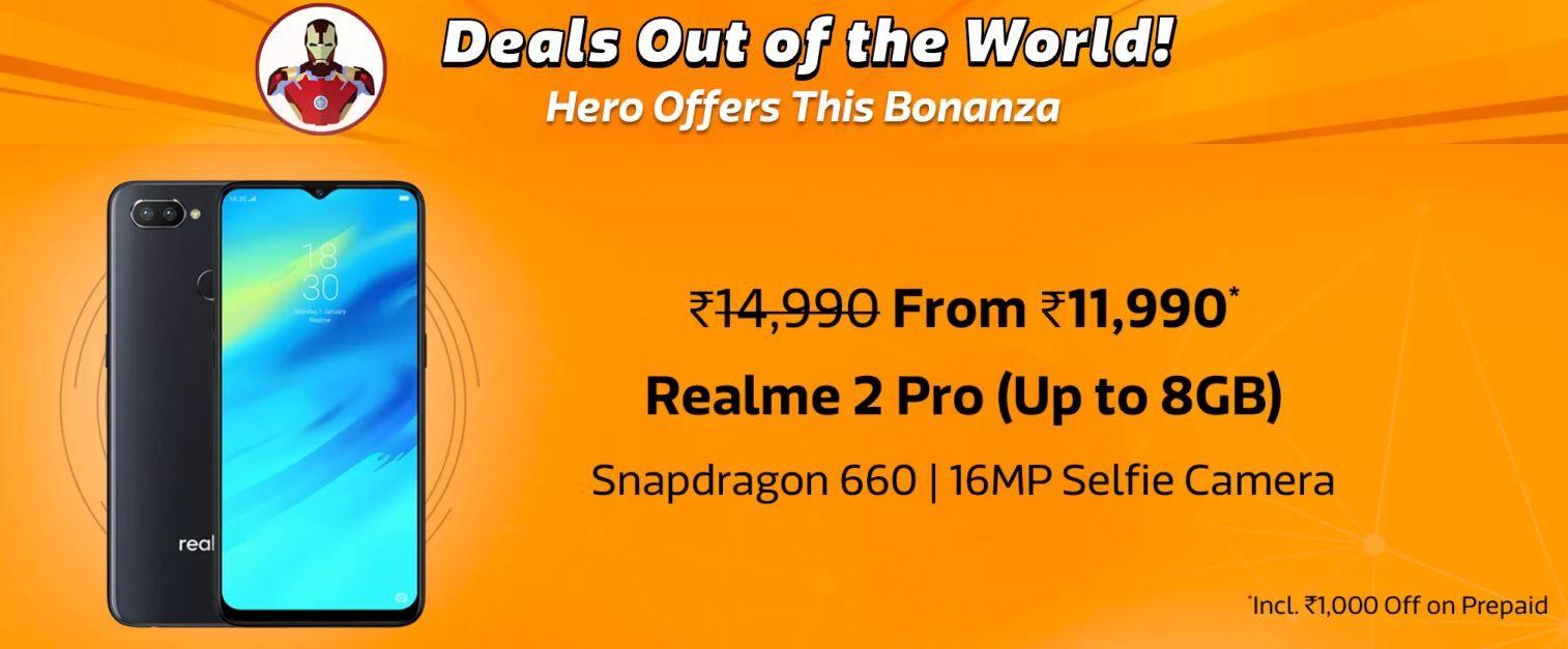 9810a9c3092fe4 Flipkart Mobile Bonanza sale  Deals and discounts on Realme 2 Pro ...