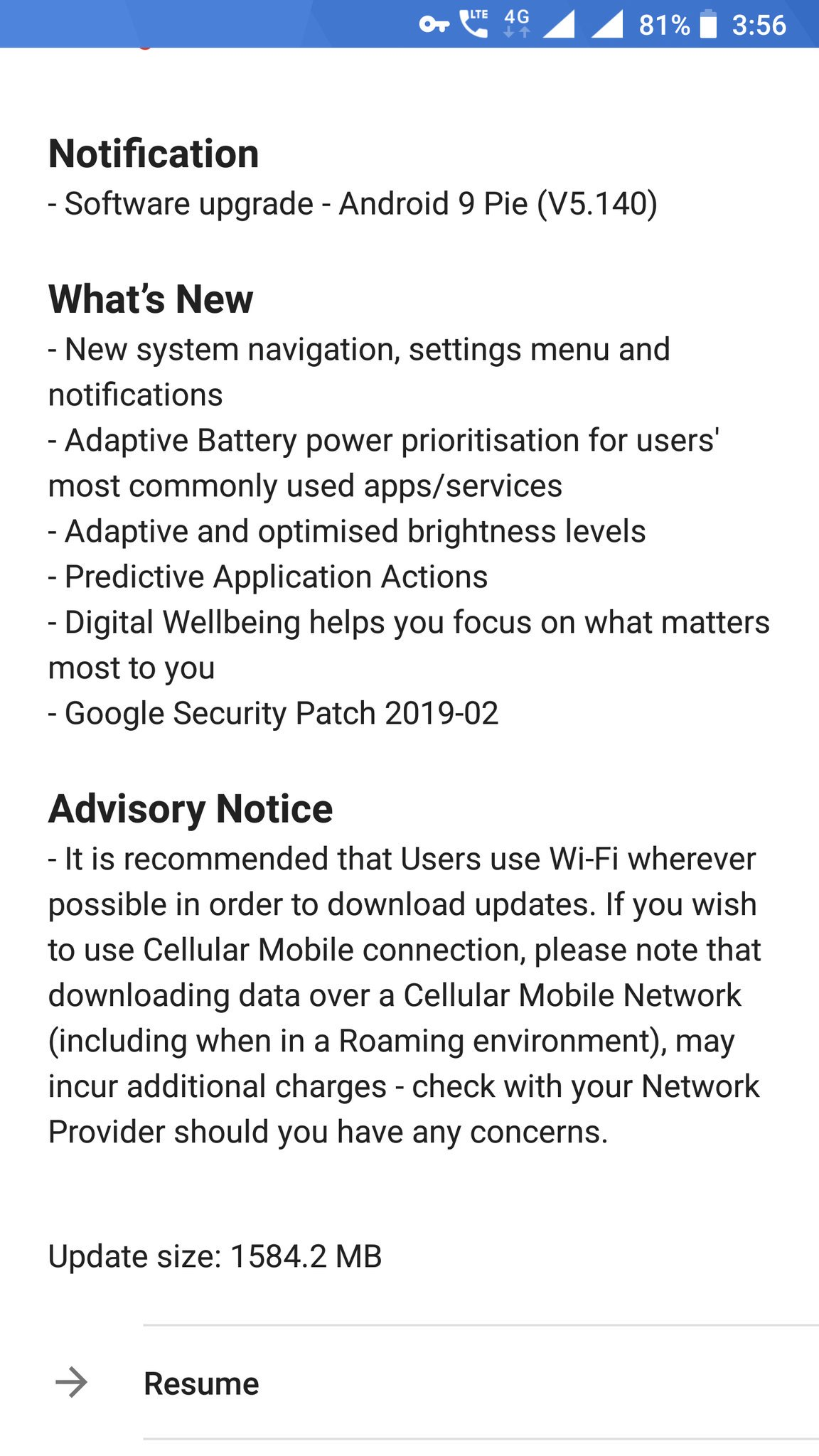 HMD Global rolls out the Android Pie update for Nokia 8 and
