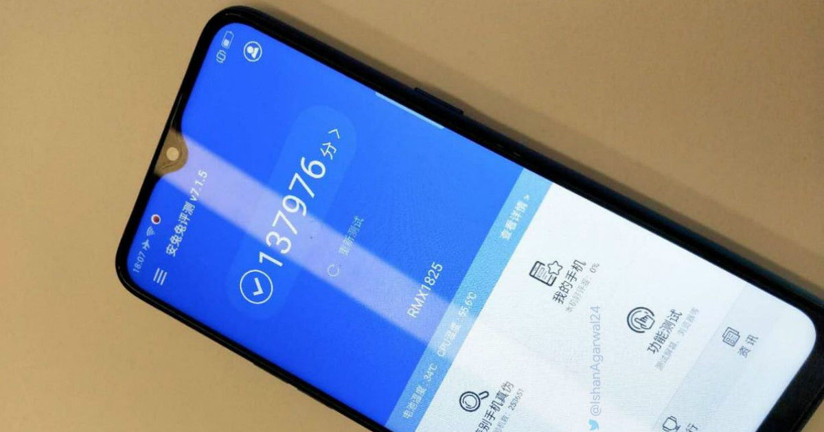 Realme 3 alleged leaked image shows Antutu score and