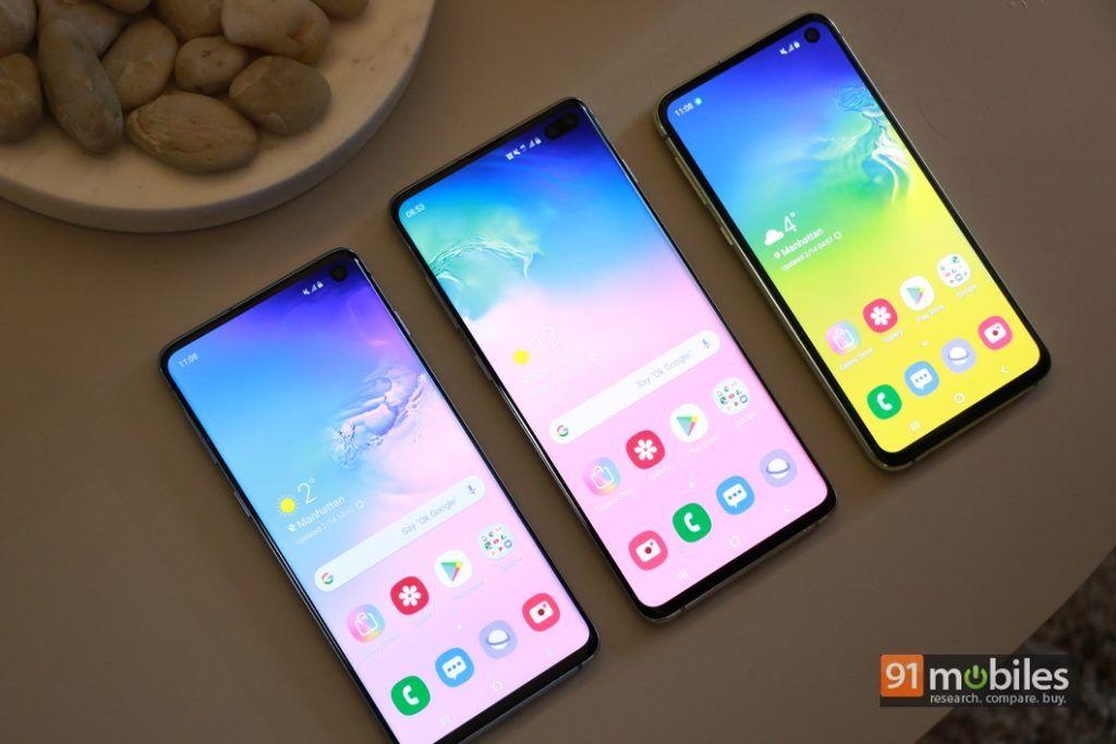 Samsung Galaxy S10 series with Infinity O display