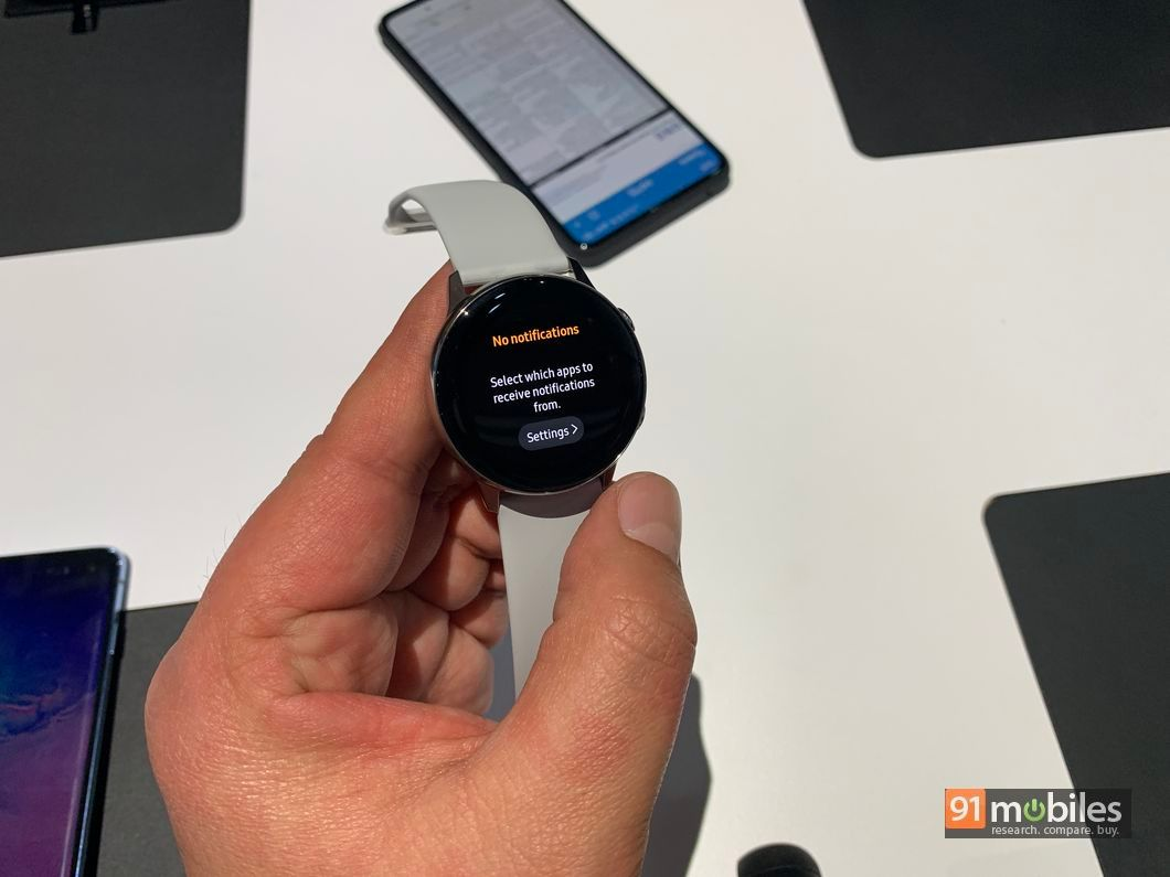 Samsung Galaxy Watch Active in pictures | 91mobiles com