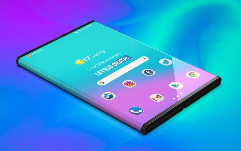 Xiaomi foldable phone render 1 - in text