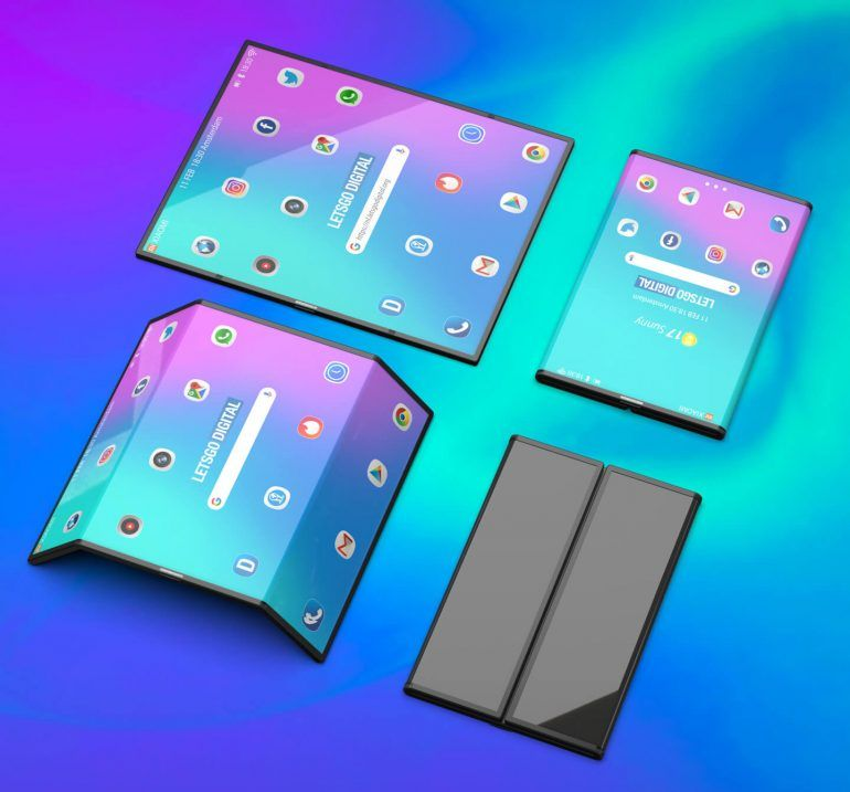 Xiaomi foldable phone render 2 - in text