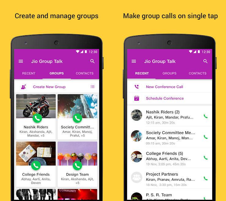 JioGroupTalk conference calling app launched in India | 91mobiles com