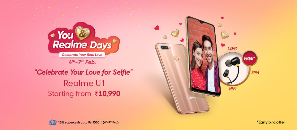 You and Me Realme Days sale: first sale of Realme C1 (2019