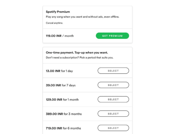 Spotify launched in India, premium subscriptions start at Rs 119 per