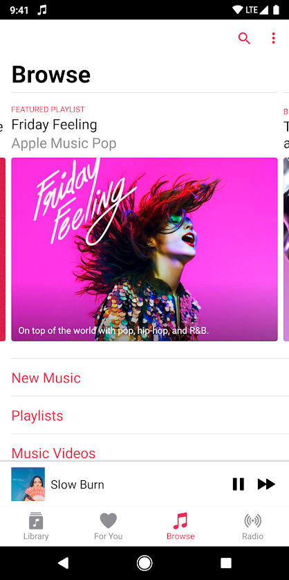 Apple Music for Android gets revamped Browse tab and