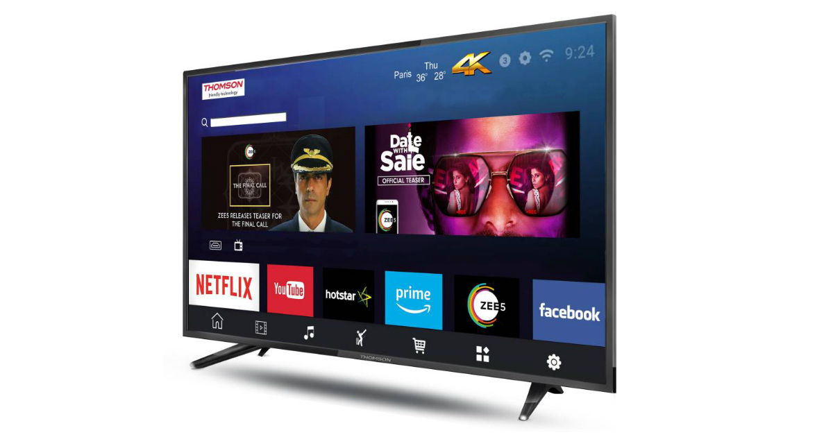 Thomson UD9 40-inch 4K Android TV launched in India, priced