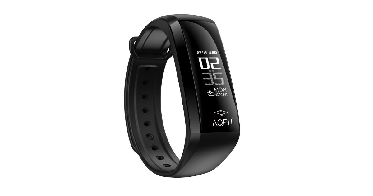 48b30b144 AQFIT M2 fitness band with heart rate monitor and blood pressure ...