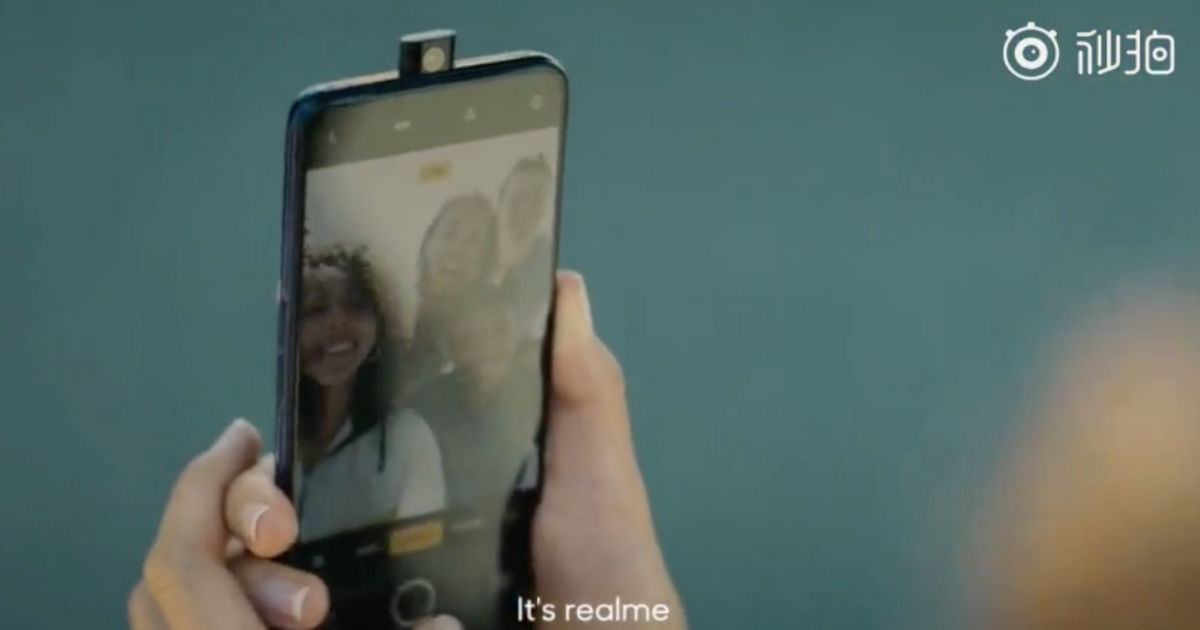 Realme smartphone with pop-up camera teased in new video