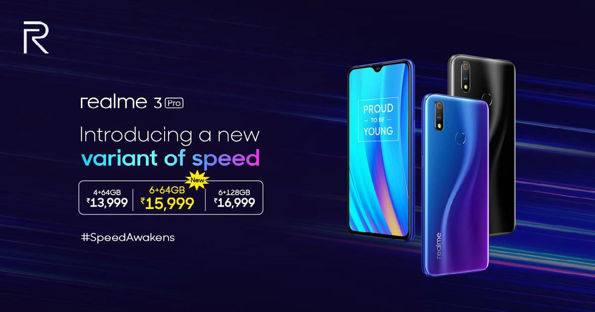 Realme 3 Pro To Go On Sale via Realme E-store, Flipkart Today For First Time